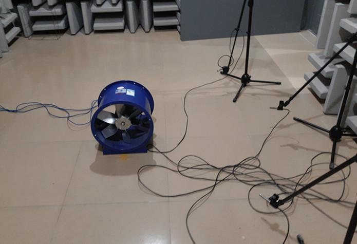 九洲普惠POG-3.5A轴流风机在丹品半消声室内的噪声测试分析报告
